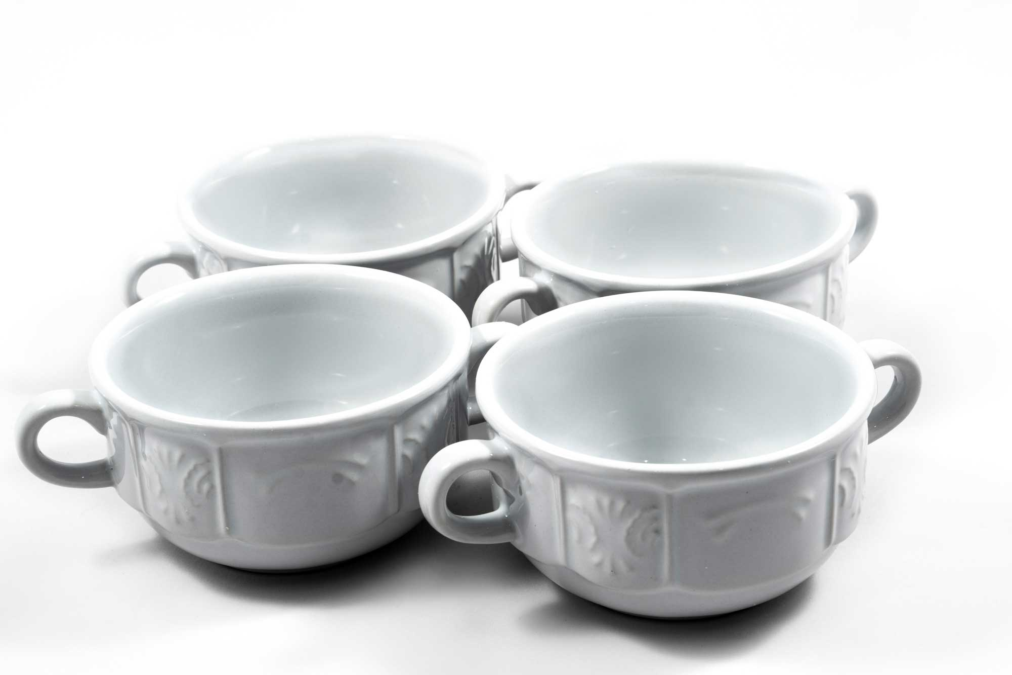 Set of 4 Classic Culinaria Double-Handled Soup Bowls