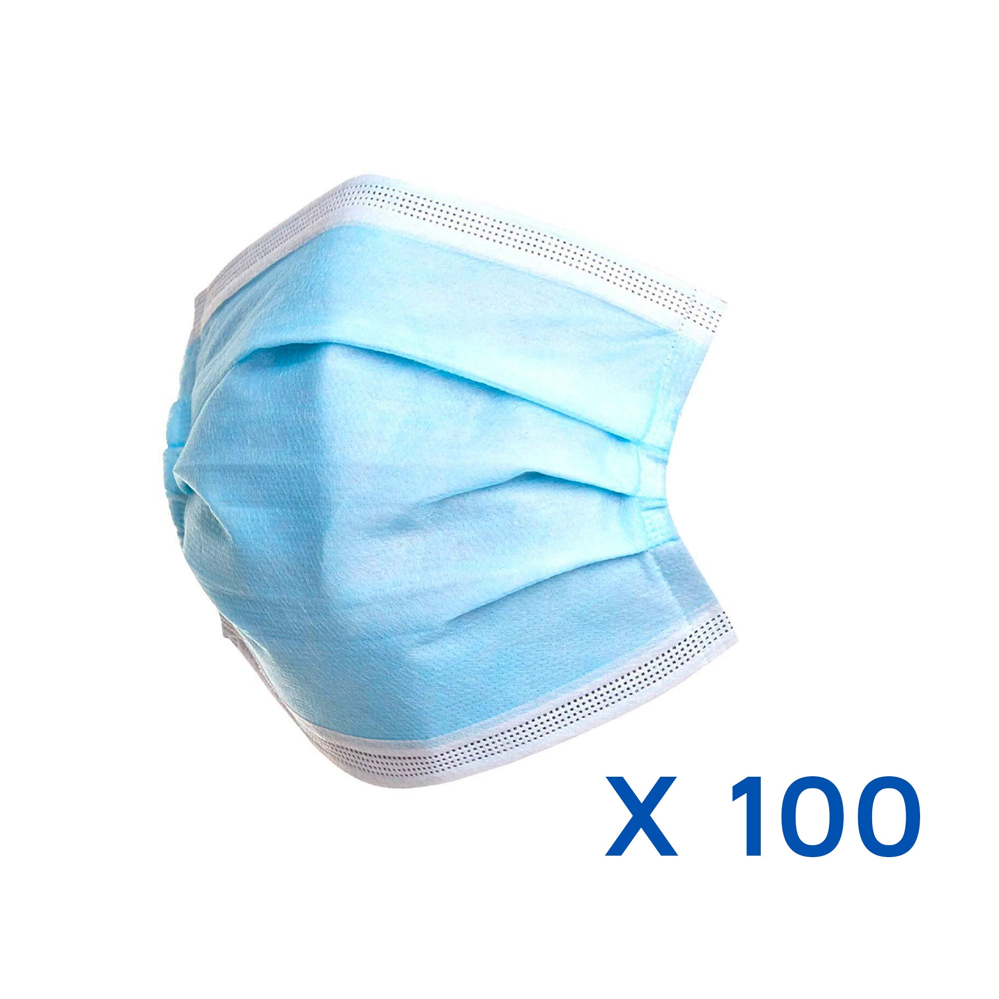 100 3 Ply Protective Face Masks (18p per mask)