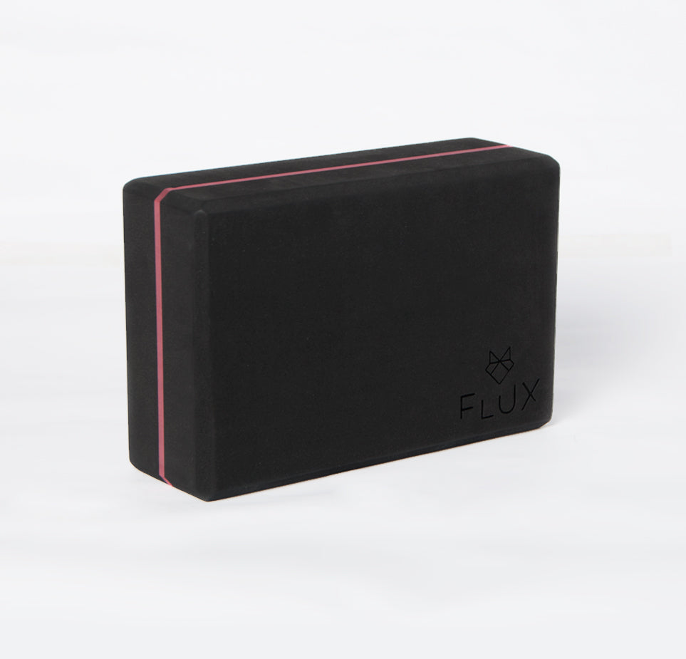 Firm Control Yoga Block - Black/Pink - Flux Movement