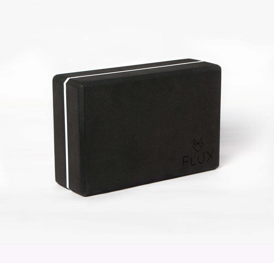 Firm Control Yoga Block - Black/White - Flux Movement