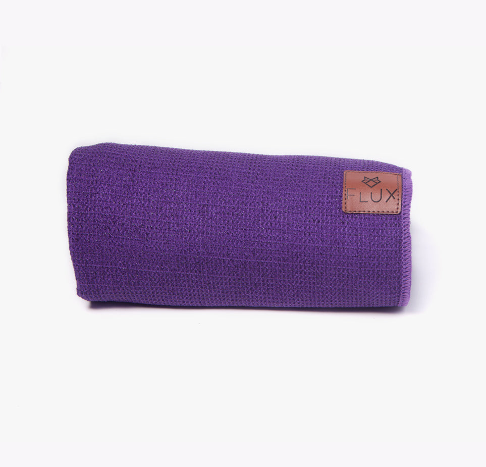 Shiftproof Yoga Mat Towel - Purple - Flux Movement