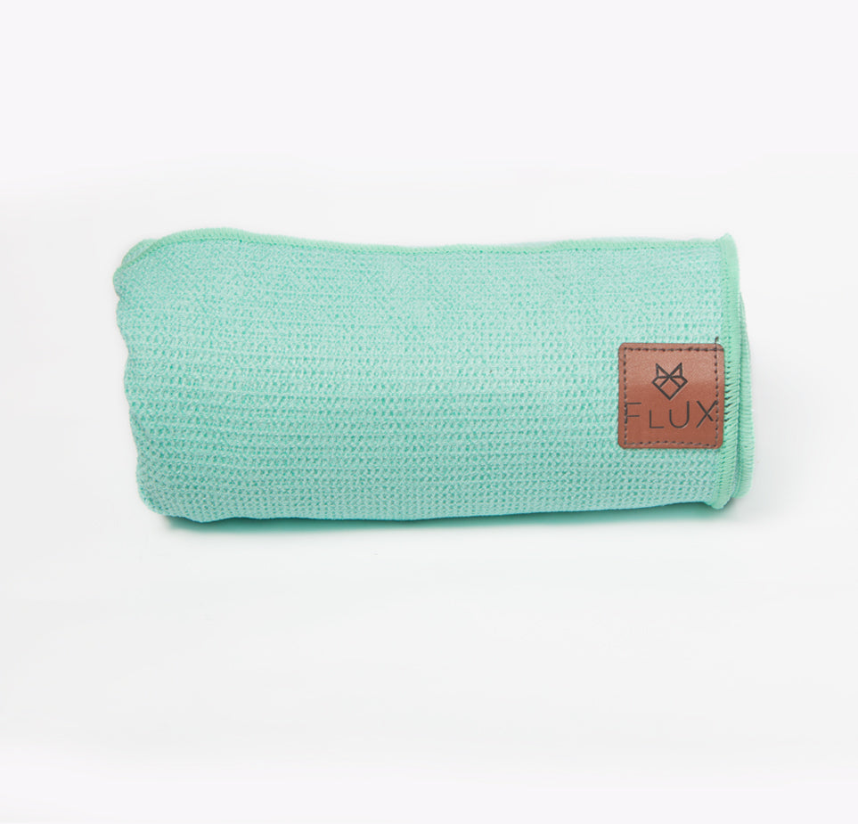 Shiftproof Yoga Mat Towel - Turquoise - Flux Movement