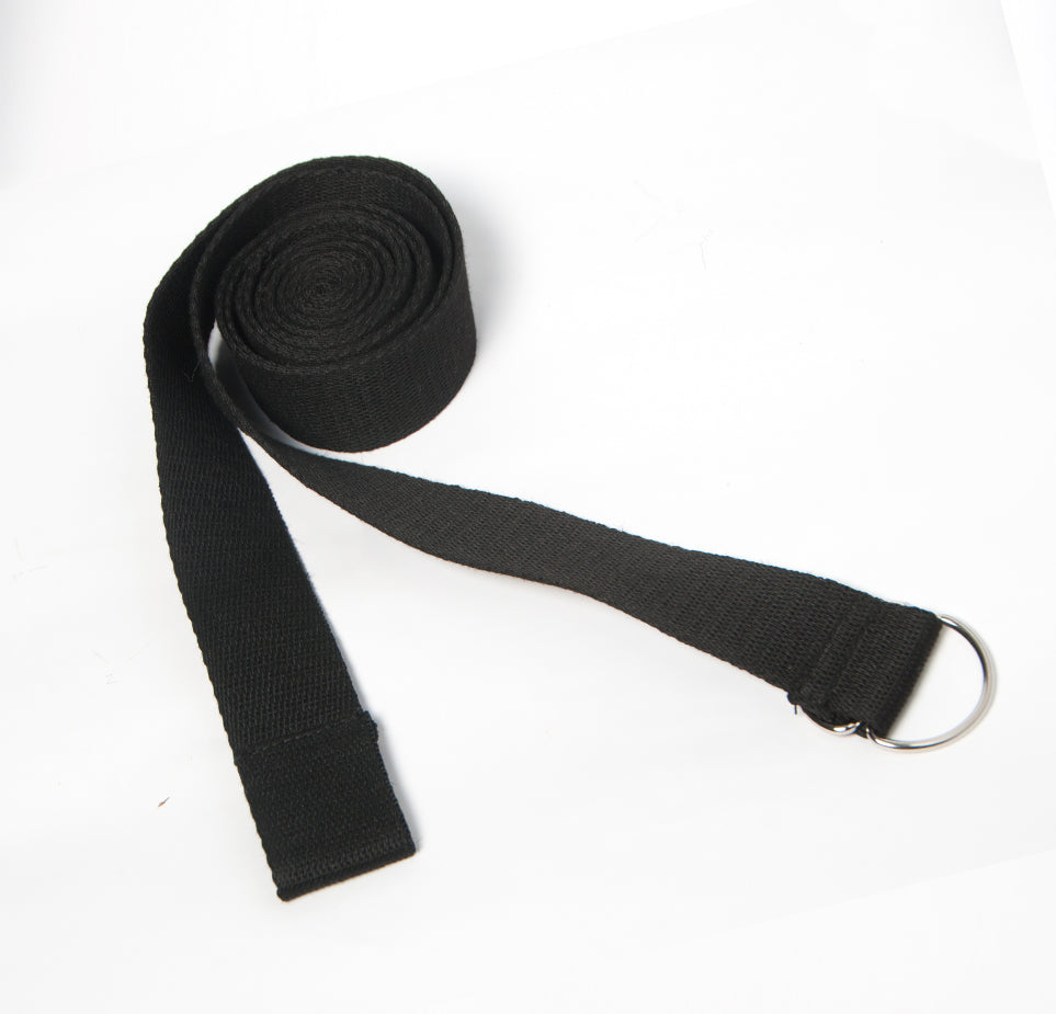 Yoga Strap (long) - Black - Flux Movement