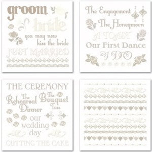 Forever Yours Wedding Swatch Pack Rub-ons