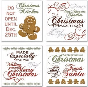 Christmas in the Kitchen Swatch Pack Rub-ons