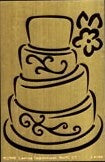 Lasting Impressions Wedding Cake Brass Template