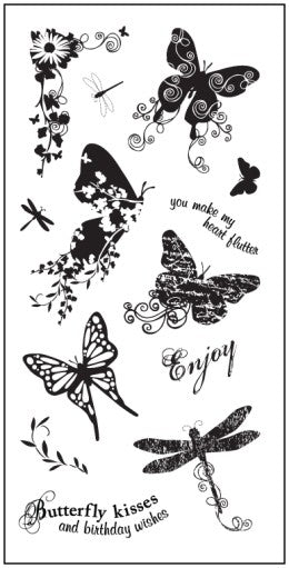 Fiskars Clear Stamps Butterfly Magic