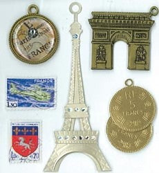 Jolee's Boutique Paris Charms Dimensional Stickers