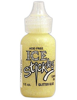 Ice Stickles Lemon Glitter Glue