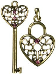Modern Romance Lock and Key Pendants