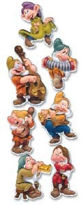 Disney Seven Dwarves Dimensional Stickers