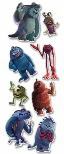 Disney Monsters Inc Dimensional Stickers