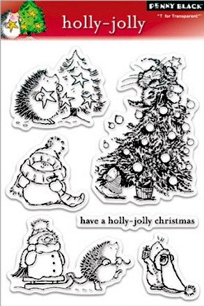 Penny Black Holly-Jolly Clear Stamps