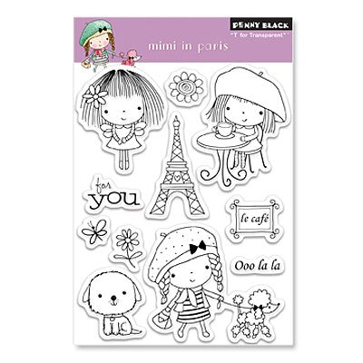 Penny Black Mimi in Paris Stamp Set