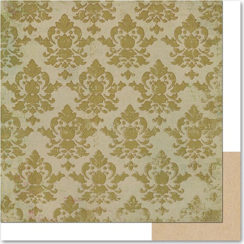 Life Stories Green Damask Paper