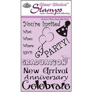 Invited to Party Clear Stamp Set