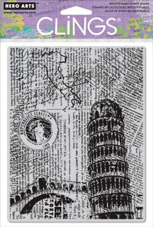Hero Arts Clings Italy Background Stamp