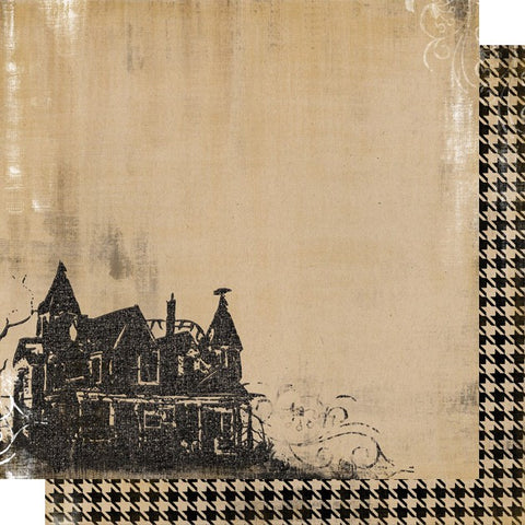 Haunted House Flocked Paper
