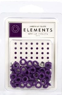 Elements Medium Eyelets Grape