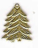 Christmas Tree Gold Charm