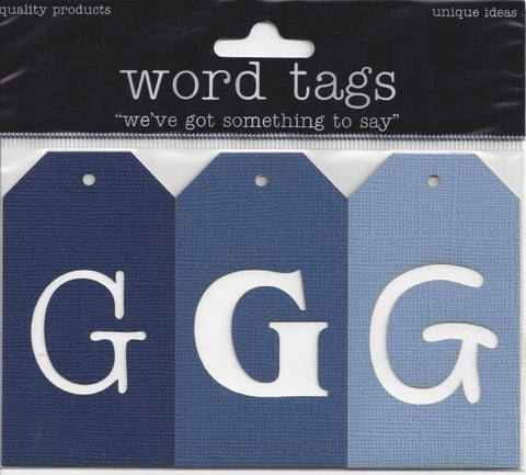 Deluxe Laser Cut Letter Tags G
