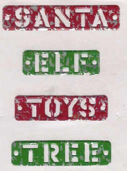 Allison Connors Santa Metal Words