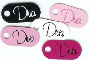 Coloured Eyelet Tags Diva