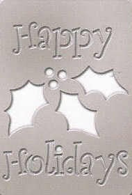 SBS-013 Happy Holidays Mini Stencil