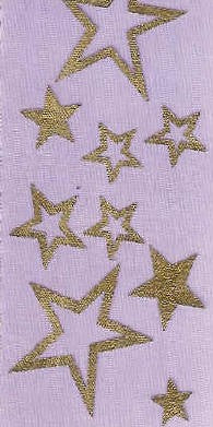 Purple with Gold Stars
