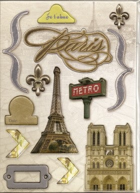 Paris Chipboard Accents