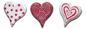 Pattern Heart Brads Red