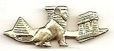 Gold Egyptian Landscape Charm