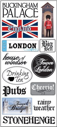 Art Warehouse England Jumbo Stickers