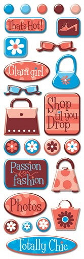 Savvy Girl Mini Epoxy Stickers