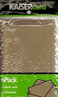 Metallic Copper Card & Envelope 6 Pack