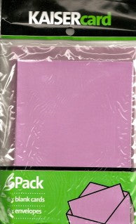Metallic Mauve Card & Envelope 6 Pack