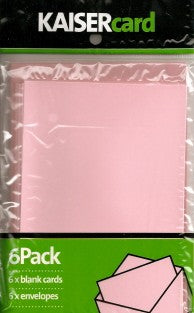 Soft Pink Card & Envelope 6 Pack