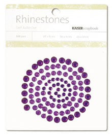 Rhinestones Dark Purple