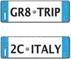 Art Warehouse Italy Licence Plates