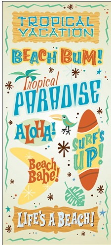 Retro Tropical Jumbo Stickers