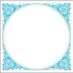 French Blue Bell Frame Transparency Sheet