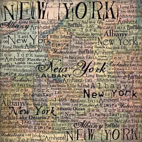 Stamping Station New York Map Paper