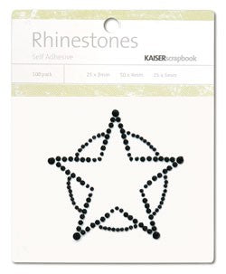 Rhinestones Sheriff Star Black