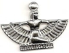 Silver Winged Egypt Figure Charm (No Loop)