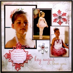 Dancer Layout Using Spellbinders