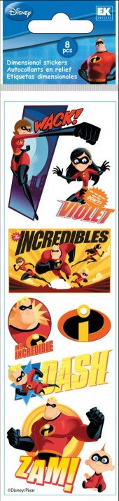 Disney Slims Incredibles Stickers