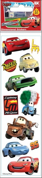 Disney Slims Cars Stickers