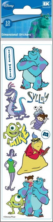 Disney Slims Monsters Inc Stickers