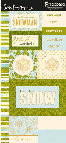 Scenic Route Rockland Let It Snow Chipboard
