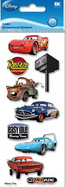 Disney Cars Dimensional Stickers